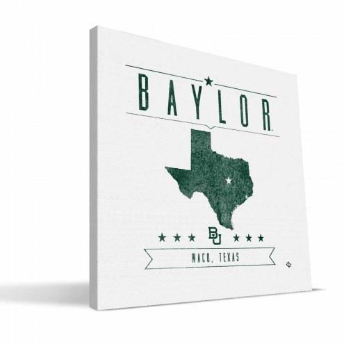 Baylor Bears Industrial Canvas Print
