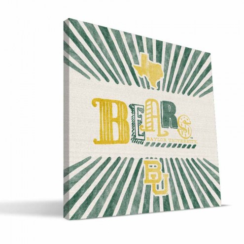 Baylor Bears State Canvas Print