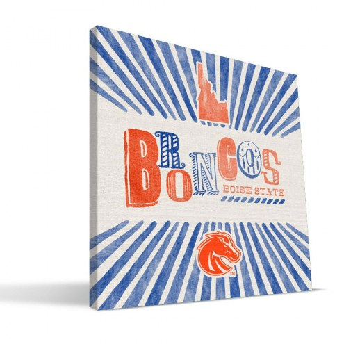 Boise State Broncos State Canvas Print