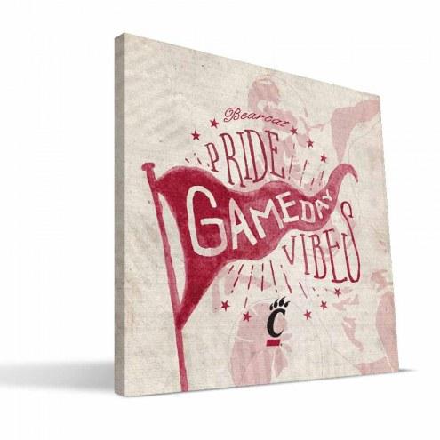Cincinnati Bearcats Gameday Vibes Canvas Print