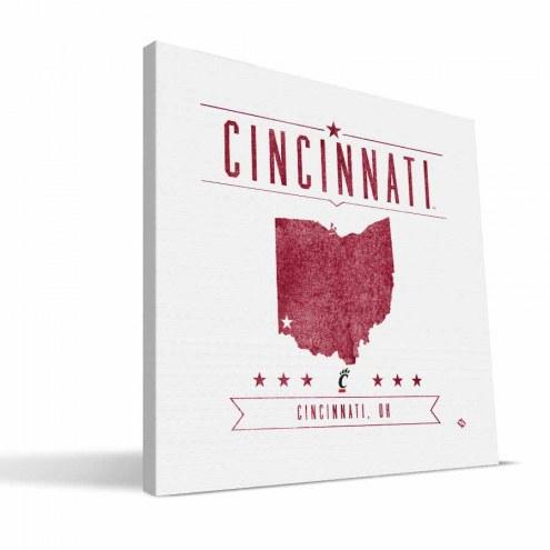 Cincinnati Bearcats Industrial Canvas Print
