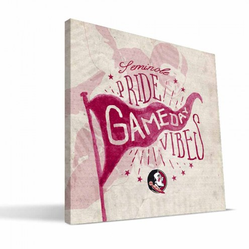 Florida State Seminoles Gameday Vibes Canvas Print