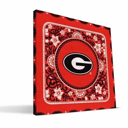 Georgia Bulldogs Eclectic Canvas Print