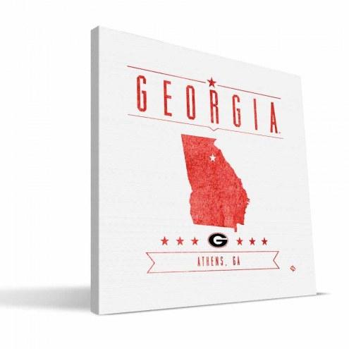 Georgia Bulldogs Industrial Canvas Print