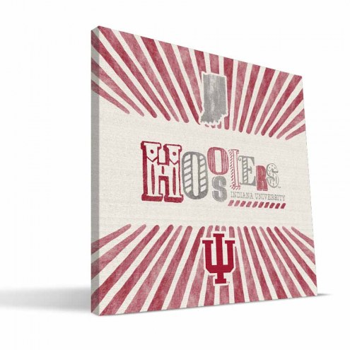 Indiana Hoosiers State Canvas Print