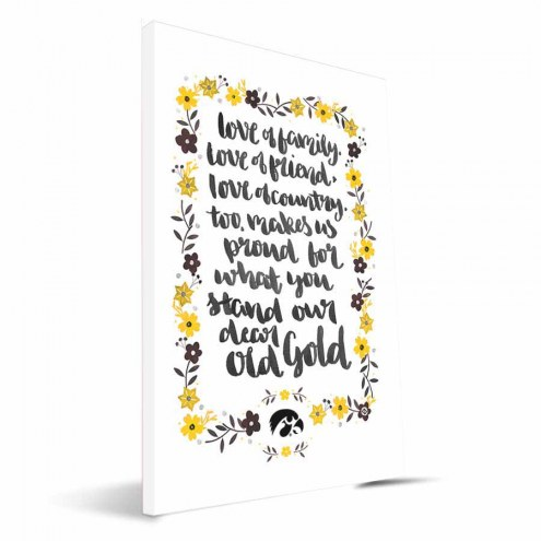 Iowa Hawkeyes Hand-Painted Song Canvas Print
