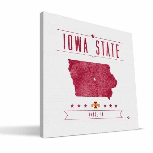 Iowa State Cyclones Industrial Canvas Print
