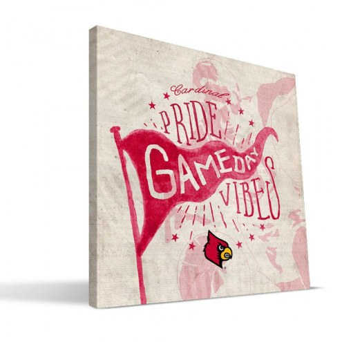 Louisville Cardinals Gameday Vibes Canvas Print