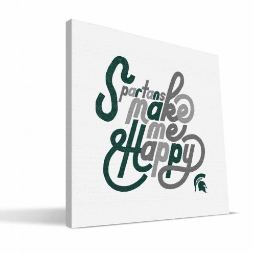 Michigan State Spartans Happy Canvas Print