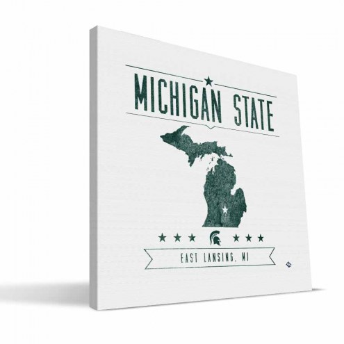 Michigan State Spartans Industrial Canvas Print