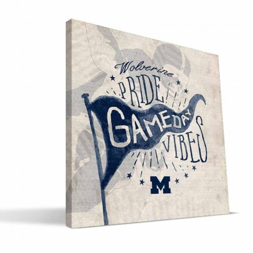 Michigan Wolverines Gameday Vibes Canvas Print