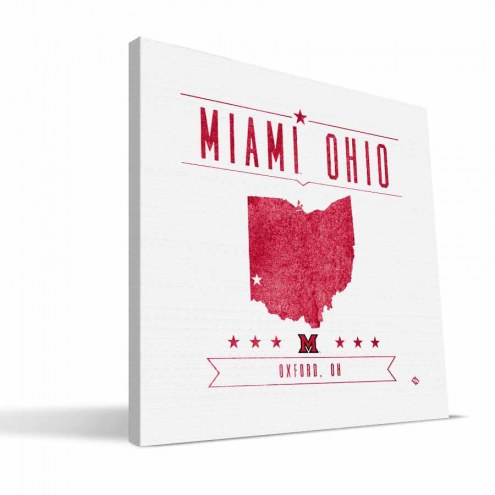 Miami of Ohio Redhawks Industrial Canvas Print