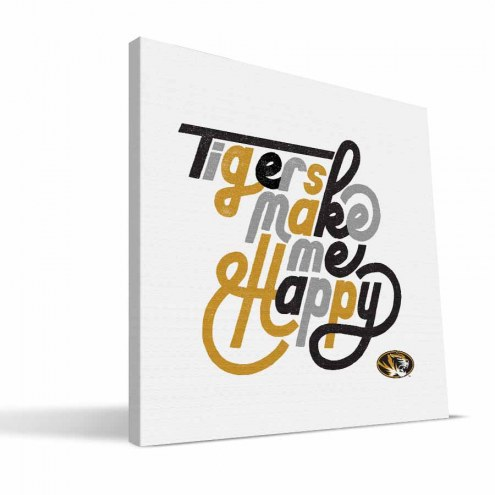 Missouri Tigers Happy Canvas Print