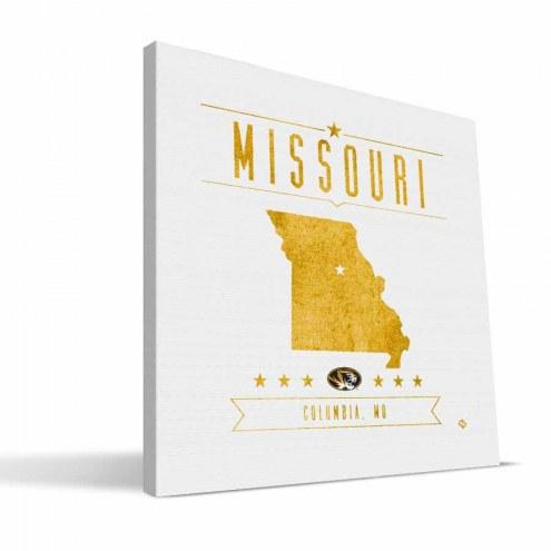 Missouri Tigers Industrial Canvas Print