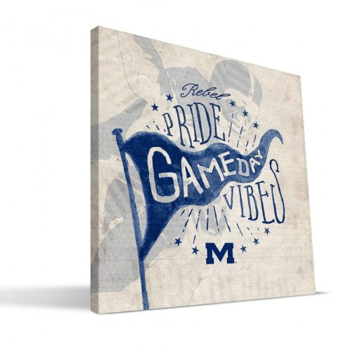 Mississippi Rebels Gameday Vibes Canvas Print