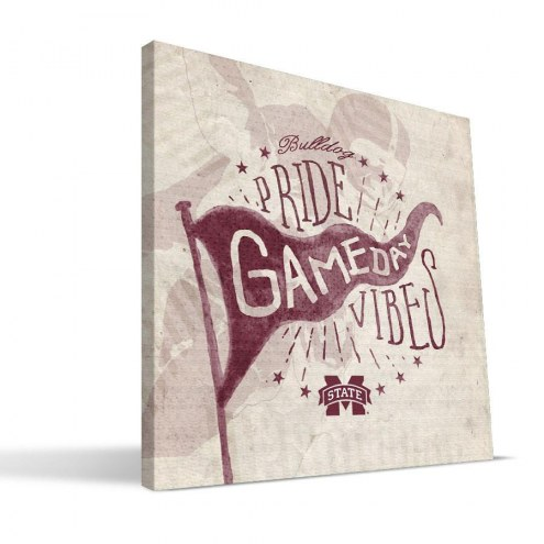 Mississippi State Bulldogs Gameday Vibes Canvas Print