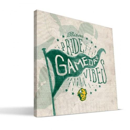 North Dakota State Bison Gameday Vibes Canvas Print