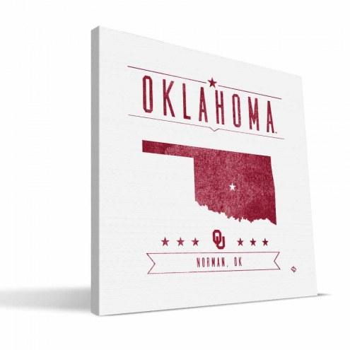 Oklahoma Sooners Industrial Canvas Print
