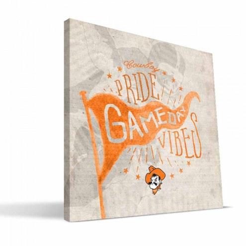 Oklahoma State Cowboys Gameday Vibes Canvas Print