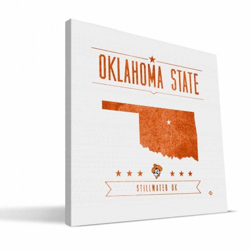 Oklahoma State Cowboys Industrial Canvas Print