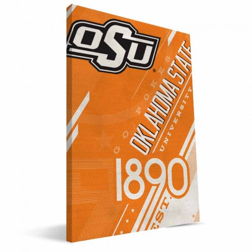 Oklahoma State Cowboys Retro Canvas Print