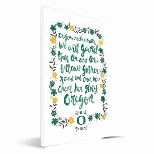 Oregon Ducks Hand-Painted Song Canvas Print