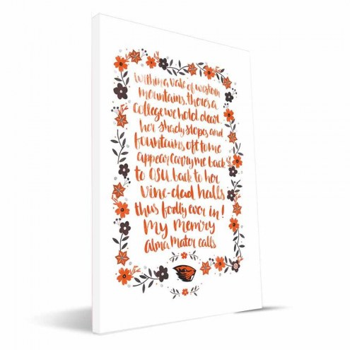 Oregon State Beavers Hand-Painted Song Canvas Print