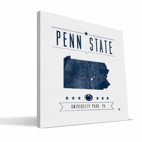 Penn State Nittany Lions Industrial Canvas Print