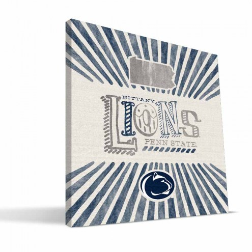 Penn State Nittany Lions State Canvas Print