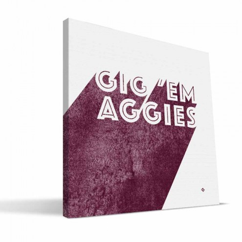 Texas A&M Aggies Shade Canvas Print