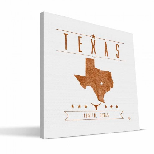 Texas Longhorns Industrial Canvas Print