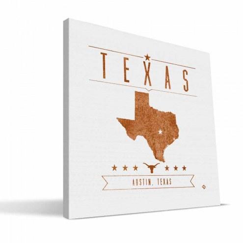 Texas Longhorns Industrial Canvas Print