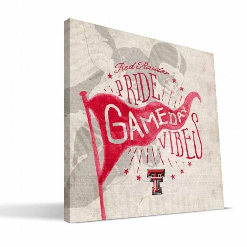Texas Tech Red Raiders Gameday Vibes Canvas Print