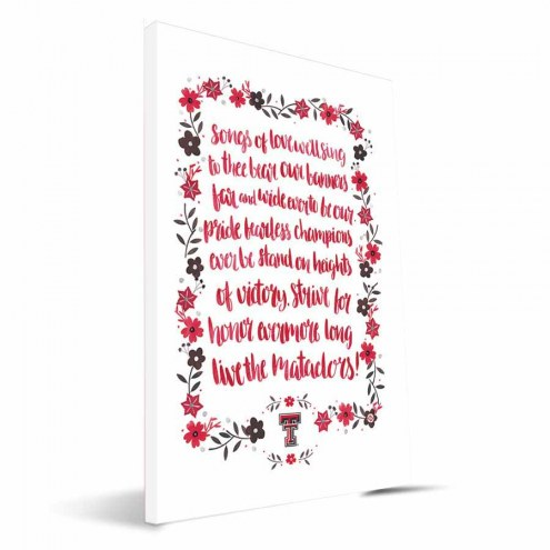 Texas Tech Red Raiders Hand-Painted Song Canvas Print