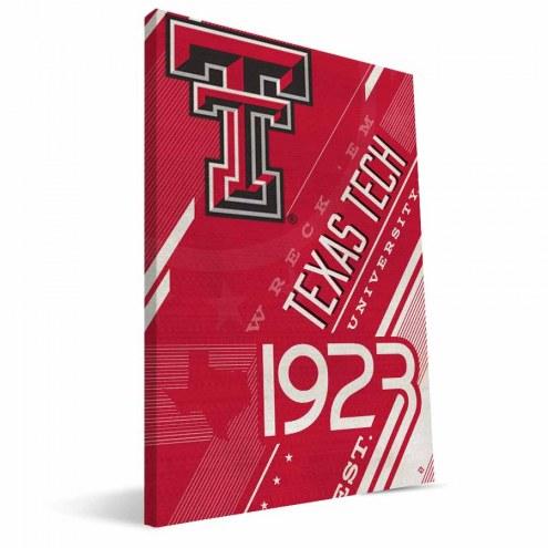 Texas Tech Red Raiders Retro Canvas Print