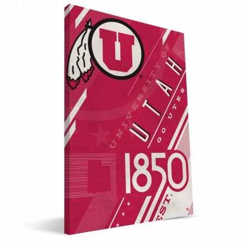 Utah Utes Retro Canvas Print