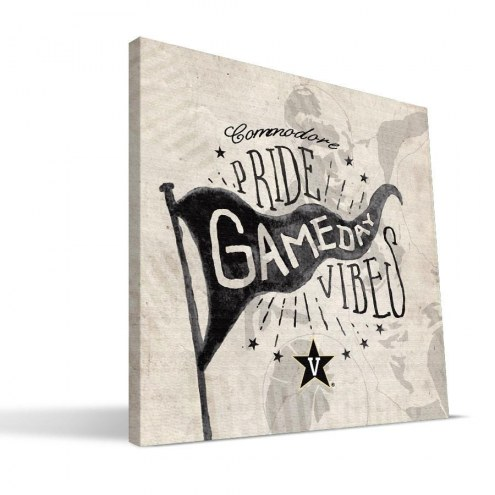 Vanderbilt Commodores Gameday Vibes Canvas Print