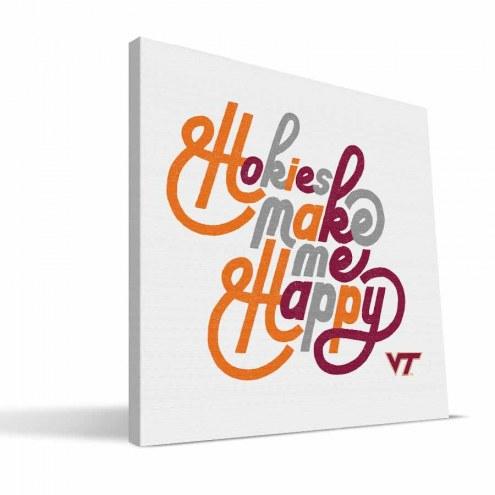 Virginia Tech Hokies Happy Canvas Print