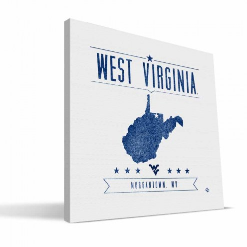 West Virginia Mountaineers Industrial Canvas Print