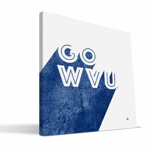 West Virginia Mountaineers Shade Canvas Print