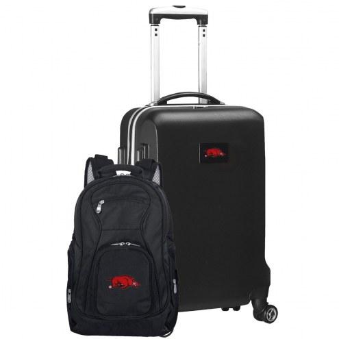 Arkansas Razorbacks Deluxe 2-Piece Backpack & Carry-On Set