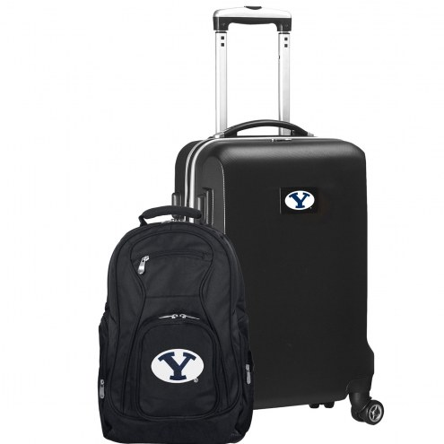BYU Cougars Deluxe 2-Piece Backpack & Carry-On Set