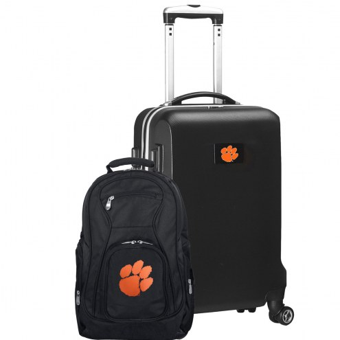 Clemson Tigers Deluxe 2-Piece Backpack & Carry-On Set