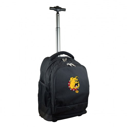 Ferris State Bulldogs Premium Wheeled Backpack