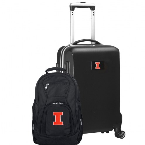 Illinois Fighting Illini Deluxe 2-Piece Backpack & Carry-On Set