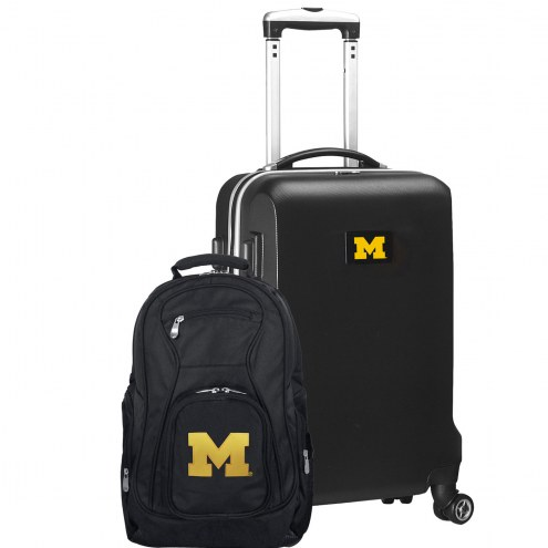 Michigan Wolverines Deluxe 2-Piece Backpack & Carry-On Set