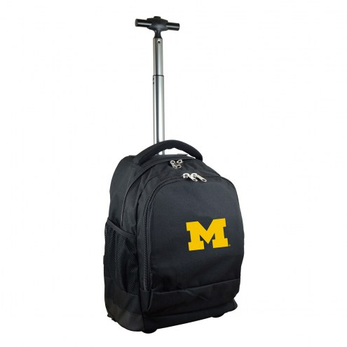 Michigan Wolverines Premium Wheeled Backpack