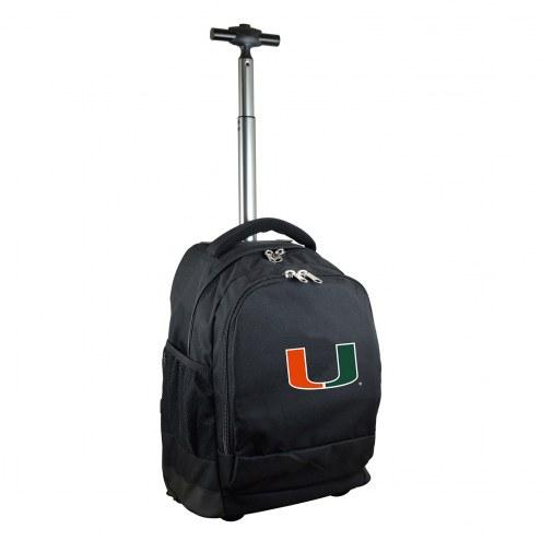 Miami Hurricanes Premium Wheeled Backpack