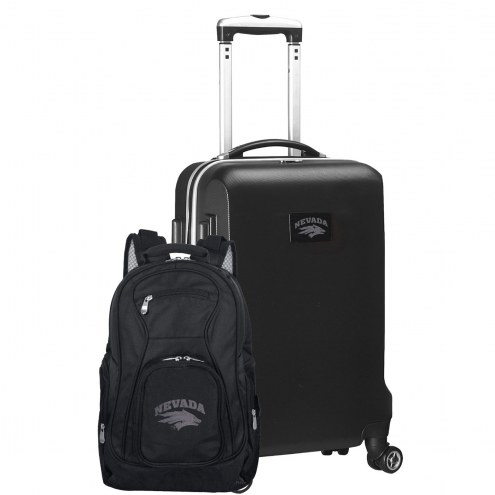 Nevada Wolf Pack Deluxe 2-Piece Backpack & Carry-On Set