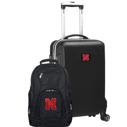 Nebraska Cornhuskers Deluxe 2-Piece Backpack & Carry-On Set